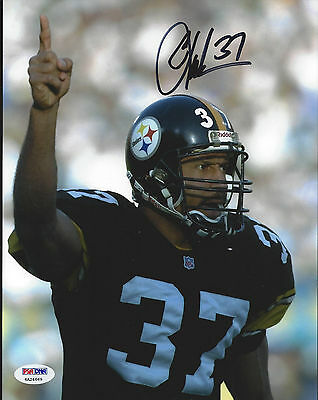"""Carnell Lake Steelers """"number 1"""" Autographed 8X10 Color Photo - Psa/dna"""