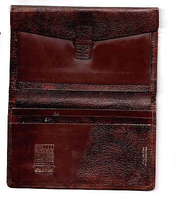 vintage bi fold brown leather wallet secret pocket calendar excellent condition