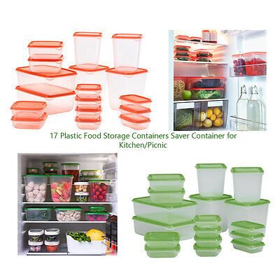 Ikea 17 Plastic Food Storage Containers Saver Container for Kitchen Kids New