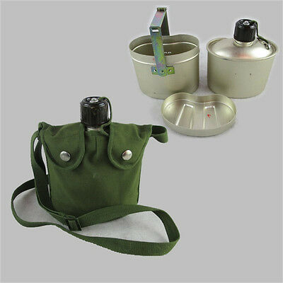 Surplus Chinese Army PLA Kettle Canteen Military Thick Aluminum Outdoor Canteen