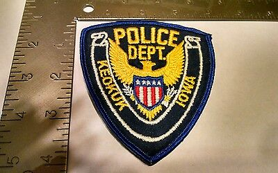 Iowa Police Patch Patches Group I Keokuk Stock Eagle Style