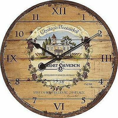 "Extra, Extra Large Retro Shabby Chic Wall Clock. 58cm Diameter (22"" +) 8125"