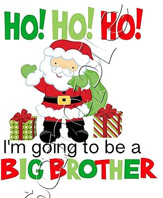 Iron On Transfer Merry Christmas Going To Be A Big Brother Maternity Pregnant