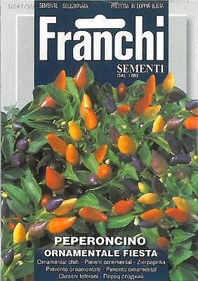 Franchi Seeds Ornamental Chilli Peppers Peperoncino Ornamentale Fiesta seeds