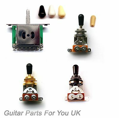 Electric guitar 3 way 5 way toggle pickup switchs in chrome black and gold ST LP
