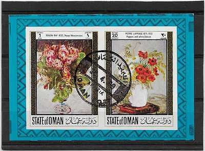 C232  State Of Aman Tableau Renoir Roses Mousseuses