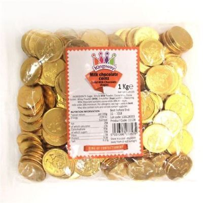 20 - 150 Pirate Coins Large Belgian Milk Chocolate Party Bag Sweets - Gold Foil