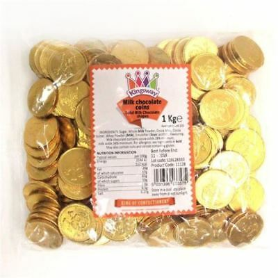 20 - 150 Pirate Coins Large  Milk Chocolate Party Bag Sweets - Gold Foil