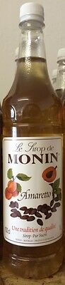 Monin Premium Amaretto Syrup 1 Litre - Big Bottle