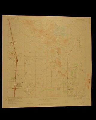 Union Hills Arizona vintage 1966 original USGS Topographical chart