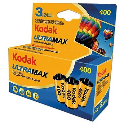 Lot of 3 KODAK ULTRA MAX 400 ISO 24 EXPOSURES (72 pictures in all) EXP. 2017