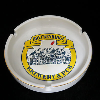 Breckenridge Brewery & Pub Ashtray Ceramic Never Used Colorado Beer Collectible