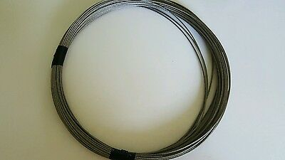"1/16"" 7 x 7 Galvanized Aircraft Cable Wire Rope WSleeves  - 100ft"