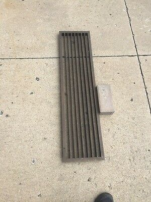 "Br 16 One Antique Brass Heating Great Or Cold Air Return 38.5"" X 9.5"""