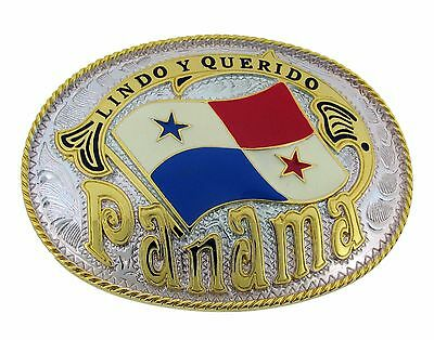 Panama Latin America Country Flag Belt Buckle Cenral Canal Metal City Mens New
