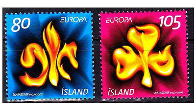 Island 2007 Europa Cept Stamps Set Scout Scouting Mnh
