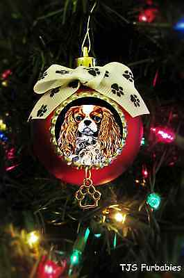 King Charles Cavalier Christmas Ball Ornament Pet Lovers Gift by TJS Furbabies