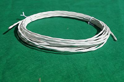 10 Ft 20 AWG Shielded Silver Plated PTFE Wire Twisted Pair 19 strand Cable.