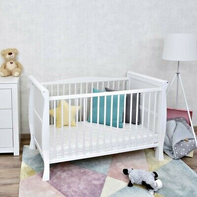 babybett lotta babyzimmer bett kiefer massiv wei white wash 70x140 cm eur 234 95 picclick de. Black Bedroom Furniture Sets. Home Design Ideas