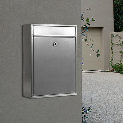 MILKCAN - WALL MOUNT LETTERBOX - WB52 Mailbox - 304 Stainless - Key Lock