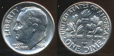 United States, 1984-D Dime, Roosevelt - Choice Uncirculated