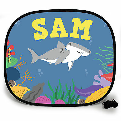 HAMMERHEAD SHARK UNDER THE SEA PERSONALISED CAR SUN SHADE Window birthday gift