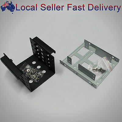"2 Bay 4 Bay 2.5""HDD SSD to 3.5"" Internal Converter Adapter Rack Bracket Mounting"