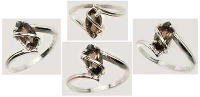 Antique 19thC ¾ct Smoky Quartz Marqs Cairngorm Scotland Sterling Ring