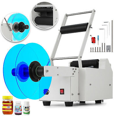 MT-50 Semi-Automatic Round Bottle Labeling Machine Printer Alloy Scrolling