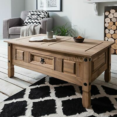 Coffee Table | Corona Mexican Pine | Solid Wood | Rustic Design