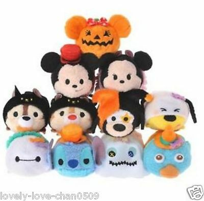 Disney Store JAPAN TSUM TSUM mini Plush Doll 2016 Halloween Mickey Minnie Stitch