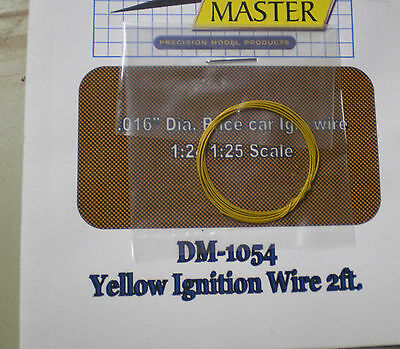 DETAIL MASTER DTM-1054 1/24-1/25 2ft. Race Car Ignition Wire Yellow