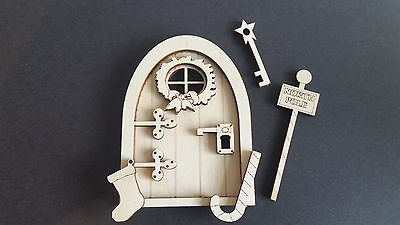 Christmas 3D Fairy Door Wooden Craft Kit with Accessories Plywood 3mm xmas