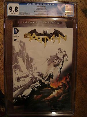 Batman #50 Double Cover CGC 9.8/9.8 Jim Lee Superman Fade Variant 1st print WP