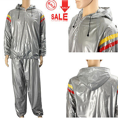 Men Women Heavy Duty Sweat Sauna Suit Exercise Gym Fitness Weight Loss Anti-Rip