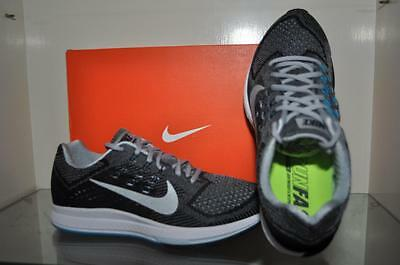 hot sale online 8ba48 3884a NIKE AIR ZOOM Structure 18 Mens Running Shoes 683731 002 Gray/Silver/Black  NIB