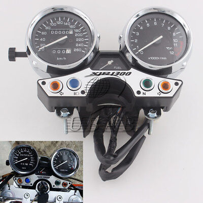 Speedometer Tachometer Cluster For Yamaha XJR1300 1989-1997 KM/H 260 New