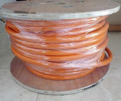 10.0mm 4 Core + Earth Orange Circular Electrical Cable 50 Meters NEW