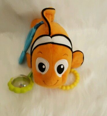 Finding Nemo Infant Plush Toy Rattle Teether Carseat