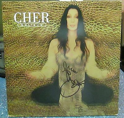 "Cher signed Believe 12"" LP"