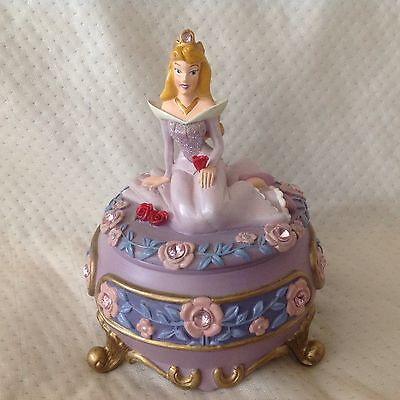 RARE Disney Sleeping Beauty Aurora BRIAR ROSE Trinkets Box Figurine