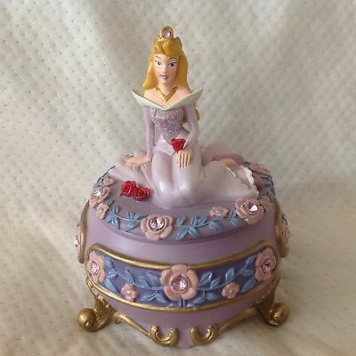 RARE Disney Sleeping Beauty Princess Aurora BRIAR ROSE Trinkets Box Figurine