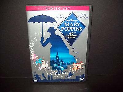 Mary Poppins 40th Anniversary Edition - Authentic Disney 2 Disc DVD Set !!