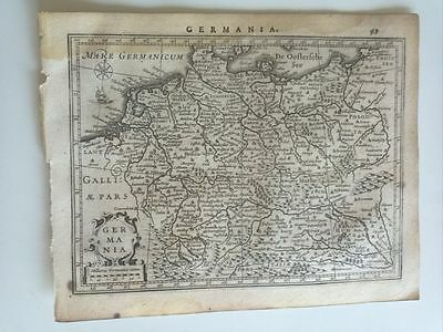 1634 Mercator Hondius: Germania Karte Deutschland Map Mapa Carte Alemania