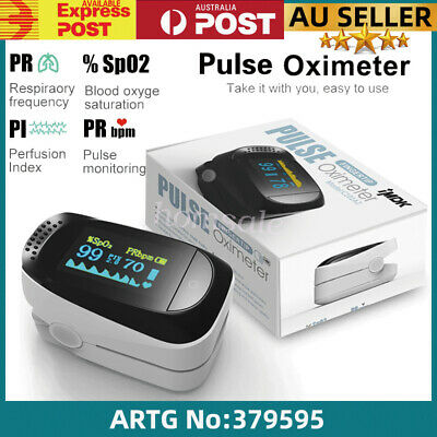 OLED Fingertip Pulse Oximeter Heart Rate Monitor Oxygen Saturation Hemoglobin