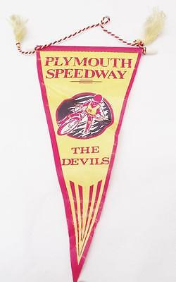 PLYMOUTH SPEEDWAY THE DEVILS  Pennant  Speedway  1970's