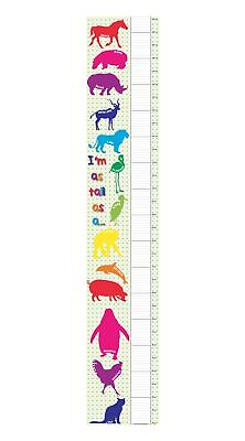 Tall As Animals Pattern Bedroom Boy Girl Kids Tall Canvas Height Chart Hc003