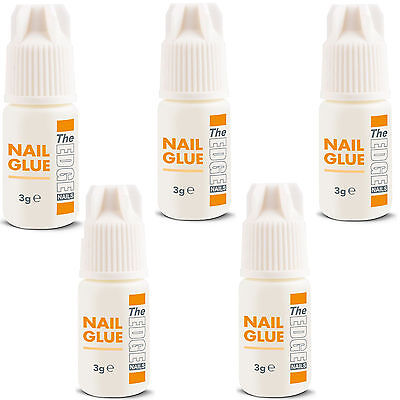 5 x THE EDGE NAIL TIP ADHESIVE GLUE 3g super strong false nail tip glue