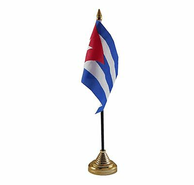 "CUBA DESKTOP TABLE FLAG 6""X4"" 15cm x 10cm flags CUBAN"