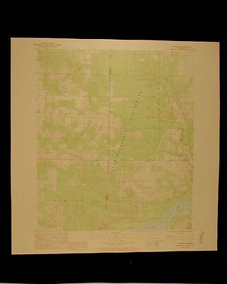 Harland Michigan vintage 1988 original USGS Topographical chart